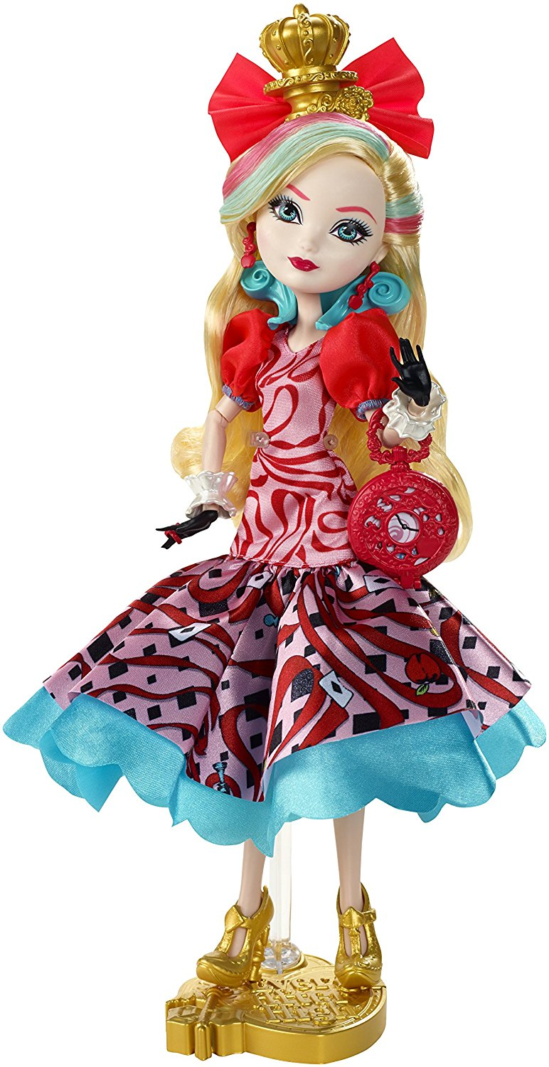 Ever After High Apple White Doll Dress only Red White Blue Way Too Wonderland