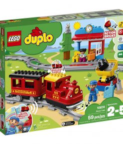LEGO DUPLO Steam Train 10874 Remote-Control Building Blocks Set Helps  Toddlers Learn, Great Educational Birthday Gift (59 Pieces) by LEGO
