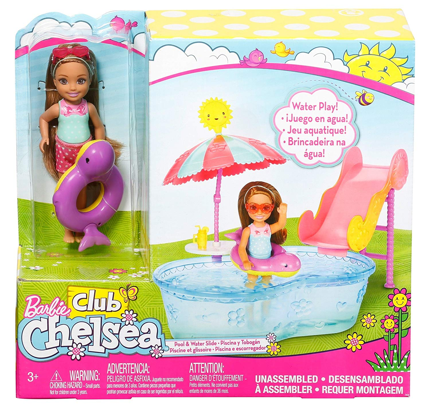 Barbie Club Chelsea Pool Water Slide Playset By Mattel World Of Toys And Games